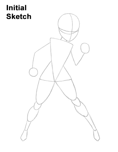 How to Draw Elastigirl Helen Parr Incredibles Guide Lines
