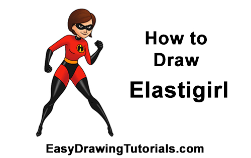 How to Draw Elastigirl Helen Parr Incredibles