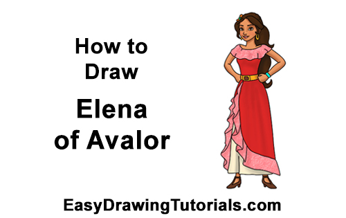 How To Draw Elena Of Avalor Video Step By Step Pictures