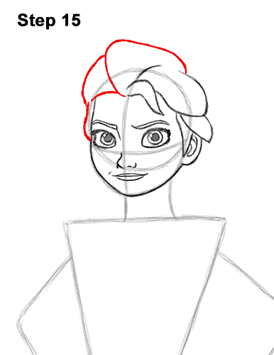How to Draw Queen Elsa Frozen Two II Dress Outfit Full Body 15