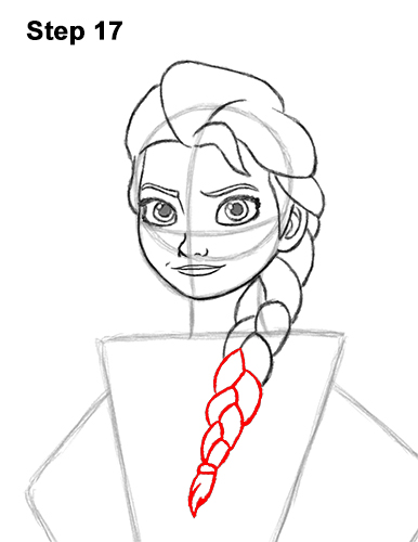 How to Draw Queen Elsa Frozen Two II Dress Outfit Full Body 17