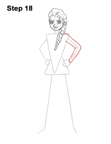 How to Draw Queen Elsa Frozen Two II Dress Outfit Full Body 18
