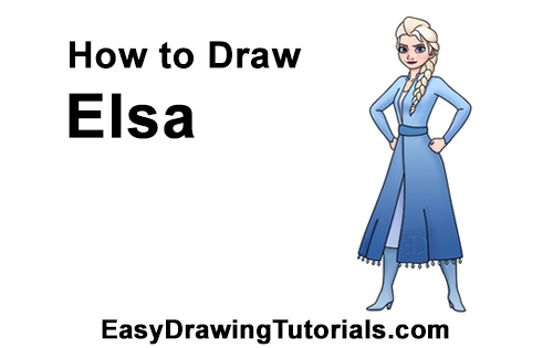 How to Draw Queen Elsa Frozen Two II Dress Outfit Full Body