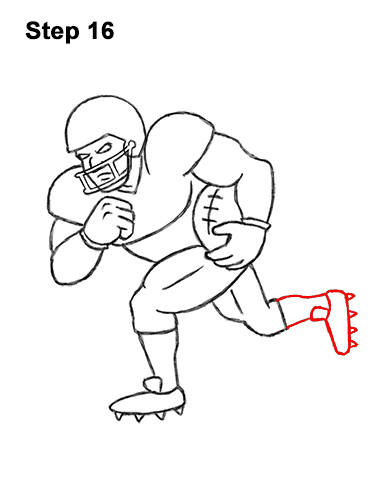How to Draw Cartoon Football Player 16
