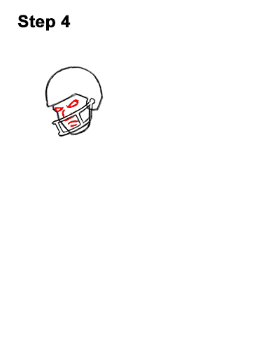 How to Draw Cartoon Football Player 4