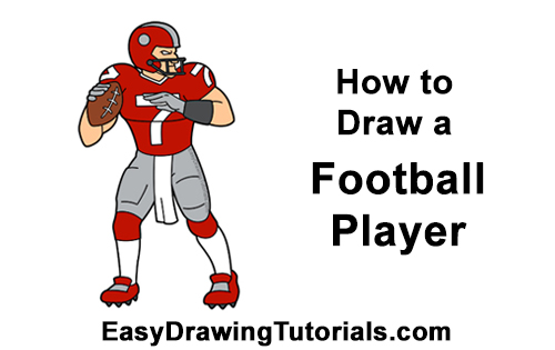 How to Draw a Cartoon Football Player Quarterback