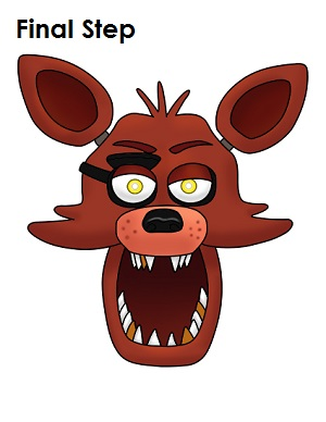 Draw Foxy Five Nights at Freddy's