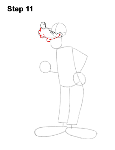 How to Draw Goofy Disney Full Body 11