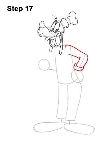 How to Draw Goofy Disney Full Body 17