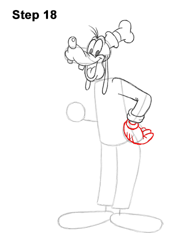 How to Draw Goofy Disney Full Body 18