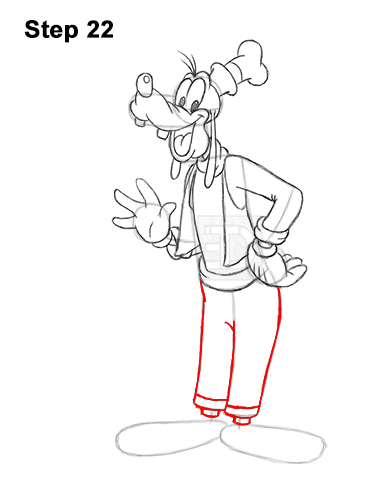 How to Draw Goofy Disney Full Body 22