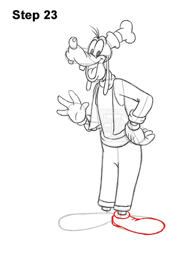 How to Draw Goofy Disney Full Body 23