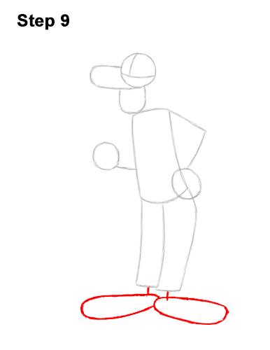 How to Draw Goofy Disney Full Body 9