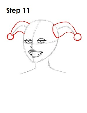 How to Draw Harley Quinn Step 11