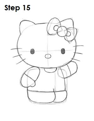 Draw Hello Kitty Step 15