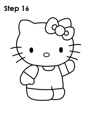 Draw Hello Kitty Step 16