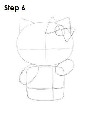 Draw Hello Kitty Step 6