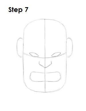 Draw the Hulk Step 7