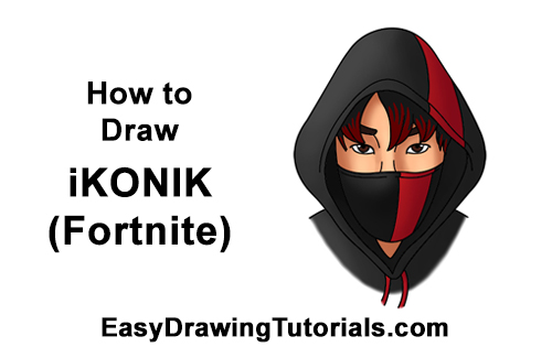 How To Draw Ikonik Fortnite With Step By Step Pictures