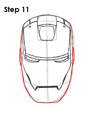 How to Draw Iron Man Step 11