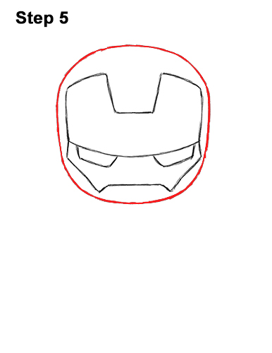Draw Mini Chibi Cute Little Iron Man 5