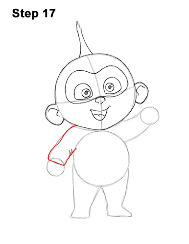 How to Draw Jack Jack Cute Baby Incredibles 17