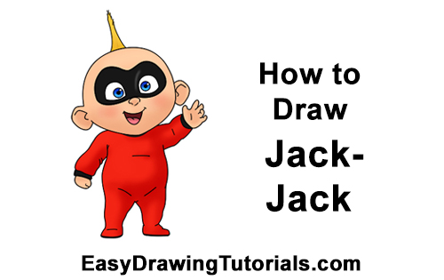 How to Draw Jack Jack Cute Baby Incredibles
