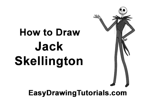 How to Draw Jack Skellington Nightmare Before Christmas Full Body