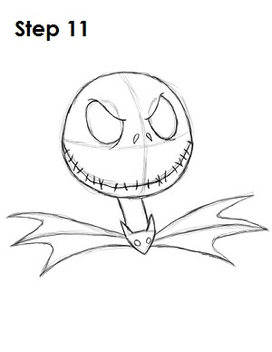 How to Draw Jack Skellington Step 11