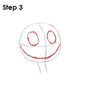 How to Draw Jack Skellington Step 3