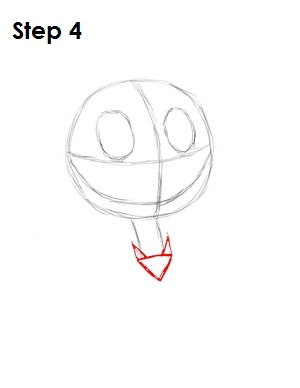 How to Draw Jack Skellington Step 4