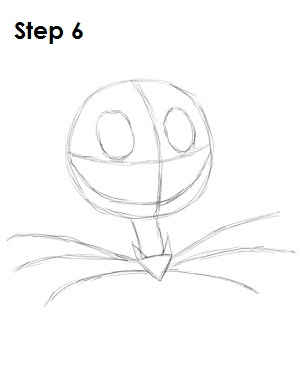 How to Draw Jack Skellington Step 6