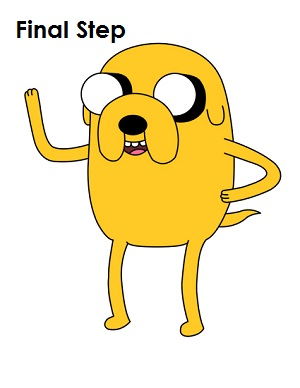 Draw Jake Adventure Time Final Step