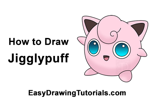 How to Draw Cute Pink Jigglypuff Pokemon