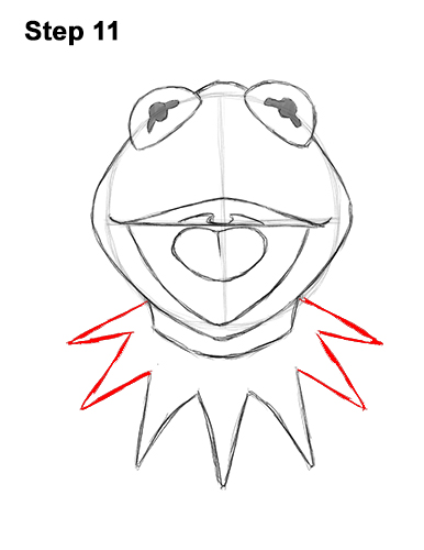 How to Draw Kermit the Frog Muppet 11