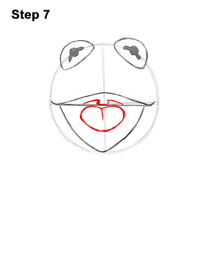 How to Draw Kermit the Frog Muppet 7