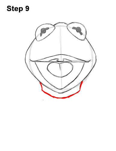 How to Draw Kermit the Frog Muppet 9
