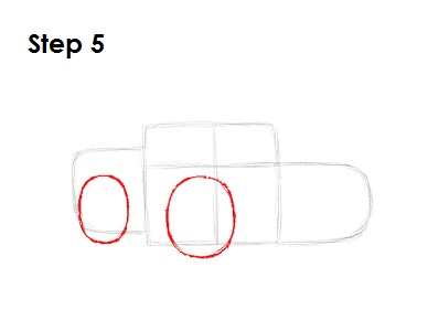 How to Draw Lightning McQueen Step 5