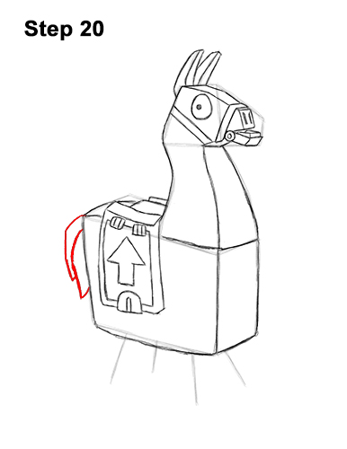 How To Draw Loot Llama Fortnite With Step By Step Pictures