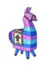 How to Draw Cartoon Loot Llama Piñata Fortnite