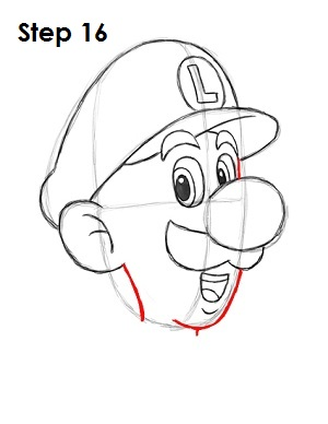 How to Draw Luigi Step 16