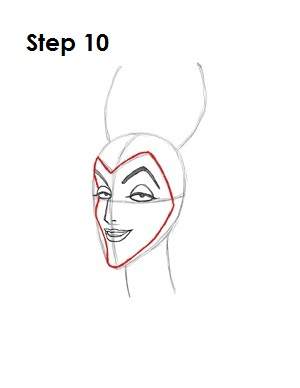 How to Draw Maleficent Step 10