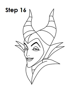 How to Draw Maleficent Step 16