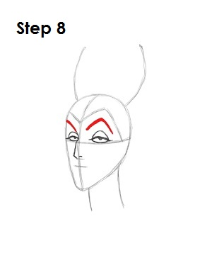 How to Draw Maleficent Step 8