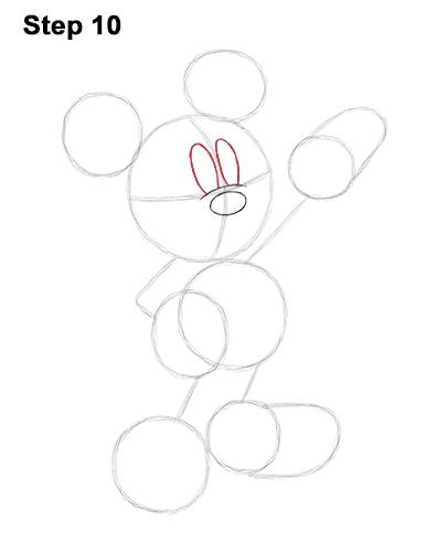 How to Draw Classic Mickey Mouse Full Body Disney 10