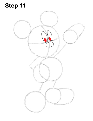 How to Draw Classic Mickey Mouse Full Body Disney 11