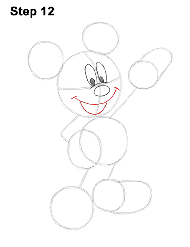 How to Draw Classic Mickey Mouse Full Body Disney 12