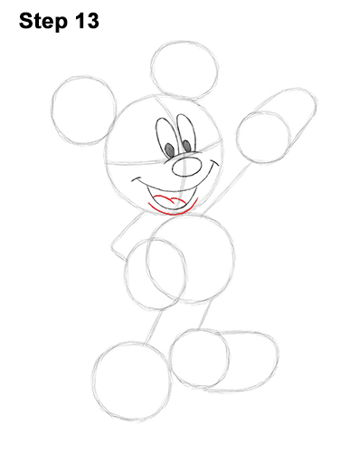 How to Draw Classic Mickey Mouse Full Body Disney 13