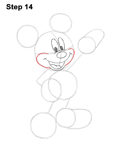 How to Draw Classic Mickey Mouse Full Body Disney 14
