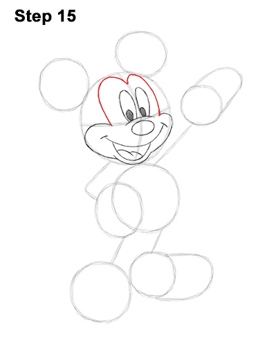 How to Draw Classic Mickey Mouse Full Body Disney 15